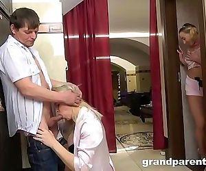 Grandparents Caught Invite Teen to Fuck 6 min