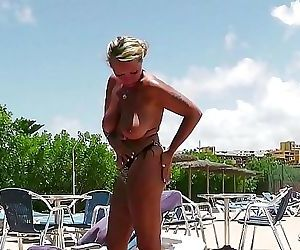 STRANGER SEDUCE GERMAN HUGE TITS MILF TO FUCK ON HOLIDAY..