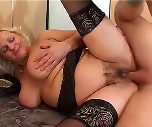 Mature blonde Klara slut loves to take it in a doggy style..