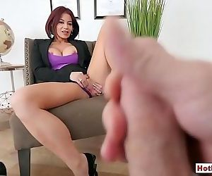 Classy mature stepmom masturbating in front of stepson 6..
