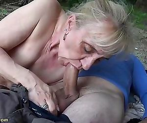 Extreme horny 86 years old granny rough outdoor banged 12..