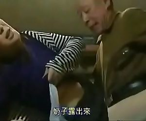 Asian mature Milf get blackmailed by a boy to lick his..