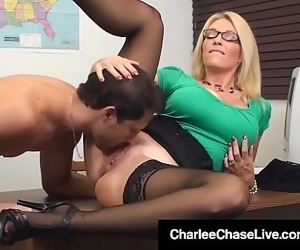 Sex Ed Teacher Charlee Chase Mouth & Pussy Fucks Student!..