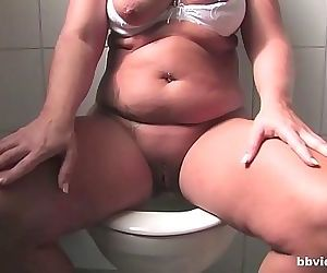 Chubby German mature gets husband to fuck her from behind..