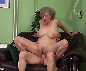 Horny 76 years old granny first time big cock fucked 12..