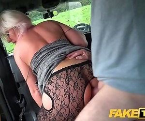 Fake Taxi Blonde babe horny tourist masturbates and fucks..