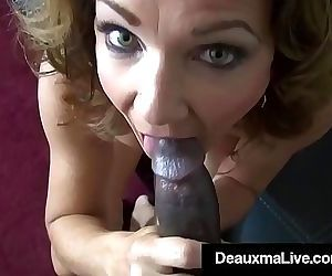 Horny Cougar Deauxma Fucks Big Black Cock Debt Collector!..