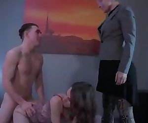 Mom teaches sex to son and daughter 25 min 720p