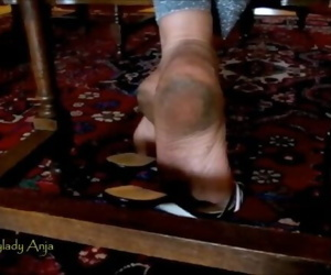 Candid shoeplay aunt rough dirty soles