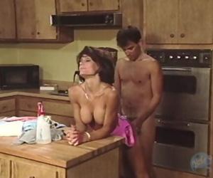 Busty Latina MILF sucks and fucks