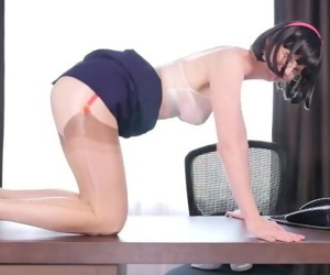 FFstockings - Secretary in layers in nylon