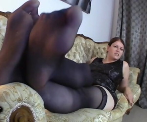 Feet JOI Mature German Nylon Stockings