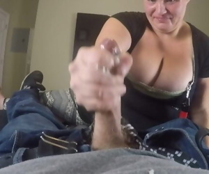 Big titty homeless chick sucks the dick sloppy Blowjob..