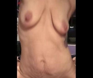 Riding my husbands hot cock with my hairy pussy