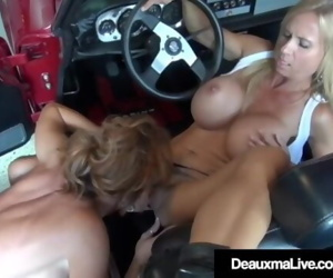 Mature Lady Deauxma Eats Out Busty Mechanic Brooke Tyler!