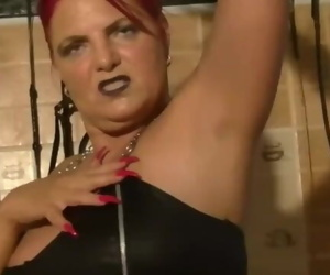 Mature femdom armpit and feet cleaning