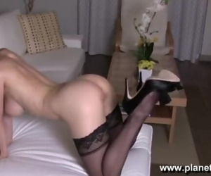 Sexy Black Stockings & Lingerie Striptease by Sexy..