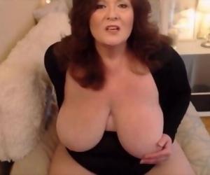 Im beautiful huge breasted grandma fucks creamy vagina