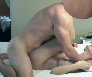 Horny cheating milf gets fuck in a motel