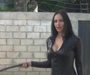 Goddess Ama K whip policeman