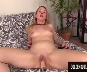 Mature Redhead Sable Renae Cums Hard After a Machine..