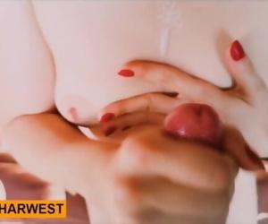 GrandHarwest. POV Handjob with Cumming on to tits