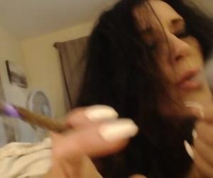 BIG ASS MILF gives smoking blowjob then rides young cock..