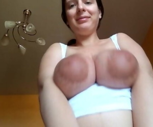 Tits play with cum on tits :P