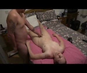 Son gives stepmom massage and plays with her pussy whilst..