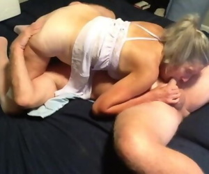 Hot Milf Makes Out With Hubby Sucks Cock Gets Fucked And..