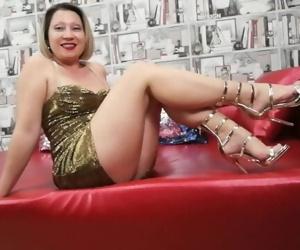 JOI - cum on my legs!