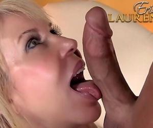 Sexy mature blonde Erica Lauren pleasing a big cock