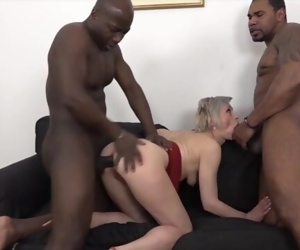 Mature Gets Black Cocks In Her Pussy And Mouth Likes Rough..