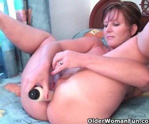 Classy Granny Fucks Her Pussy And Asshole With Dildos In..