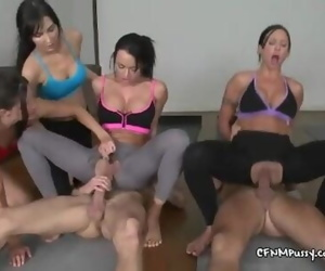 Yoga Pants Orgy with Premature