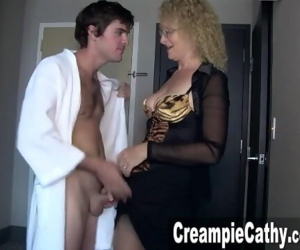 Young Guy Creampies MILF