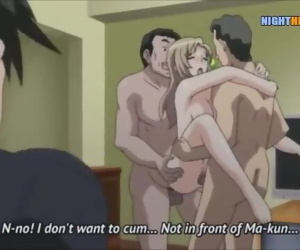 Hentai uncensored - guys fuck the busty wife in front of..