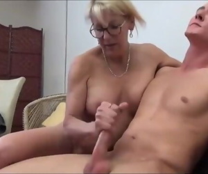 Taboo! Mature MILF seduces and fucks her 18yo stepson with..