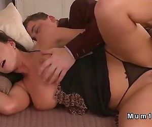 Busty Mature Horny Step Mom Banged in lingerie