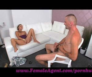 FemaleAgent. Mutual masturbation on casting couch