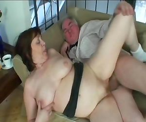 Naughty grandma and grandpa