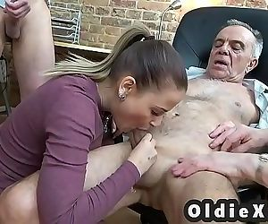 Old and young foursome 7 min 720p