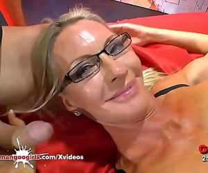 Mature Emma Starr first gangbang in Bukkake ArenaGerman..