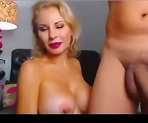 Hot sensual blonde fucked by a juicy cock live on adult..
