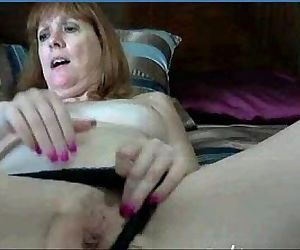 My 52yr old Fuck Friend Trix Fingering her Cunt on Cam..