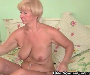 Grandma With Voluptuous Body Gets Fondled And Fingered By..