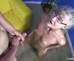 Horny Granny Gets Splattered - 4 min HD