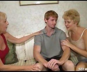 Two Blonde Grannies Suck A Big Cock - 33 sec