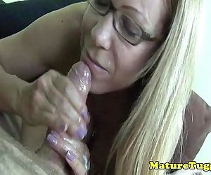 Tugging cougar milfs failed pov facial