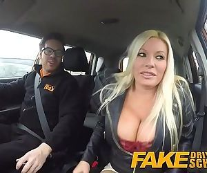 Fake Driving School squirting orgasm busty milf takes..